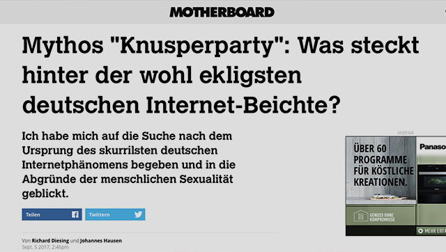 Mythos Knusperparty
