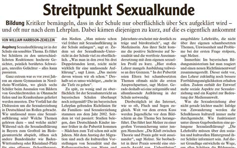 Augsburger Allgemeine - Streitpunkt Sexualheilkunde - Dr. med. Heike Melzer