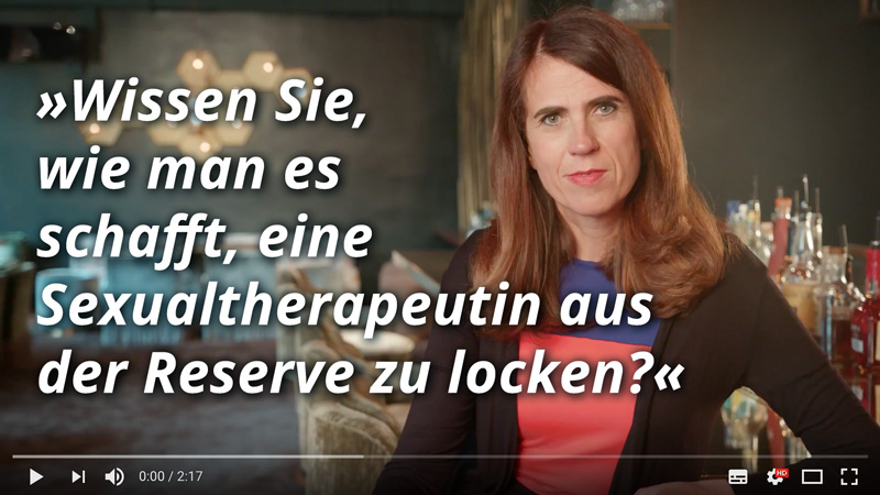 Dr. med. Heike Melzer: Wissen Sie, wie man es schafft, eine Sexualtherapeutin aus der Reserve zu locken?